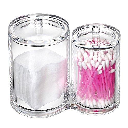 Ball und Swab Holder Organizer Aufbewahrung Snackverpackung Premium Qualität Acryl Rund Behälter erbanlagen Pads Swab Inhaber Fall durchsichtig ()