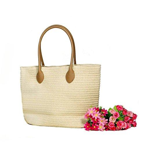 womens-shoulder-bag-eco-straw-knitting-beach-tote-handbag-purseshell-white