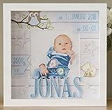 Personalisiertes Geschenk zur Geburt eines Jungen