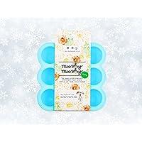 Contenitore per pappa bimbi in silicone con 9 stampini – Ideale per prima pappa, conservazione latte materno, preparazione di dolci - Adatto a freezer, lavastoviglie e forno – Materiale 100% sicuro