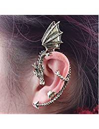 Repino 1pc Women Fashion Oriental Dragon Earring Ear Cuff Clip Earrings