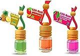 3Elegante Aroma frascos para coche y hogar. Verano Frutas Mix: 1x pinapple–Piña, 1x mango, 1x Watermelon–Sandía