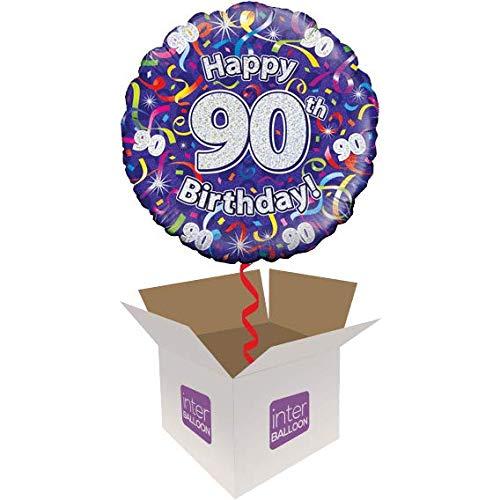 0th Birthday Luftschlangen Ballon wird aufgeblasen in einer Box mit Kostenlose Lieferung ()
