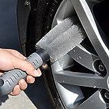 Rueda de Coche Cepillo De Limpieza, cepillo de mango de goma, para coche neumático rueda cepillo de limpieza para taladro Twisted cubo de rueda cepillo limpiador herramienta