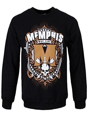 Memphis May Fire -  Felpa  - Uomo Nero  nero