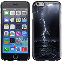 Planetar® ( Donner-Blitz-Sturm Sky Black Night ) Apple (4.7 inches!!!) iPhone 6 / 6S Handyhülle Schale Hart Silikon Hülle Schutzhülle Case