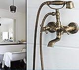 Robinets pour lavabos Robinets en forme de téléphone Bass antique Bassin suspendu...