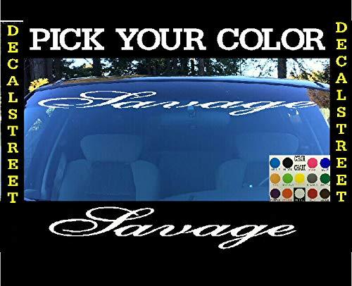 CELYCASY Savage Windschutzscheiben-Visier, gestanzt, Vinyl-Aufkleber, lustiger Honda Euro Drift Visor Banner -