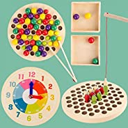 Clock Fishing Wooden Sorting Toy