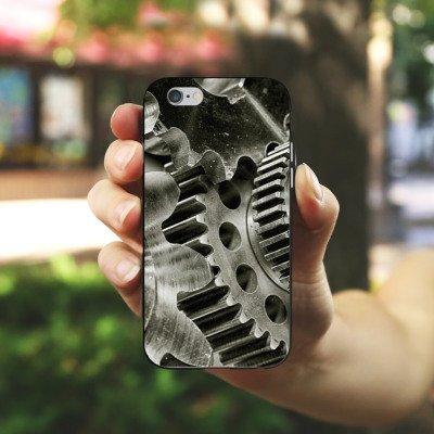 Apple iPhone 4 Housse Étui Silicone Coque Protection Mécanique Roues dentées Boîte de vitesses engrenage Housse en silicone noir / blanc