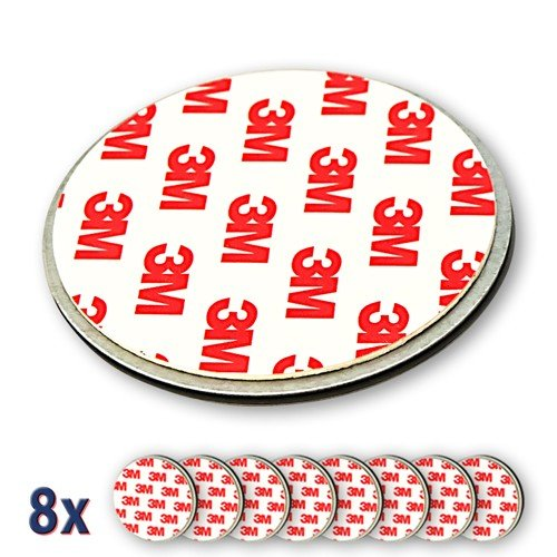 Nemaxx 8x NX1 Quickfix Magnet Set Befestigung Magnetbefestigung für Rauchmelder / Funkrauchmelder /...