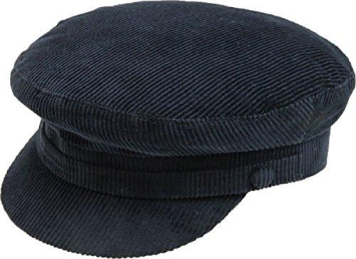Failsworth Mariner Corde Casquette, velours côtelé, Extérieur, Marche bonnet, stylé - Bleu marine, XL 61cm