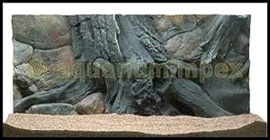 EKOL Amazonas Décor de fond en relief pour aquarium 80 x 40cm