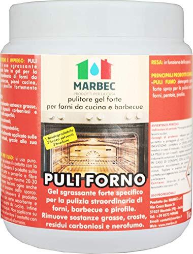 Marbec - PULI FORNO 1KG | Pulitore sgrassante forte in gel per forni da cucina e barbecue