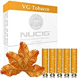 517Zb7a21sL. SL160  - BEST BUY #1 5 x NATURAL/STANDARD NUCIG 0MG Tobacco Flavour Refill cartomiser Filter | ***VG Premium | for e shisha e hookah e cigarette electronic cigarette ego Reviews and price compare uk