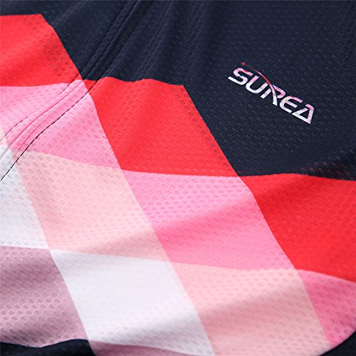 fb7623f8a Surea 2017 Classic Design Short Sleeve Jersey Mens  Quick Dry Ultralight  Summer Cycling Jersey Breathable Racing Clothing Super Cool Bicycle Jersey  (L) ...