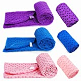 Non-Slip Yoga Towel Mat with Bag, 63 x 180cm, Available in Four Colours (Purple)