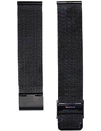 20 mm Mira la correa - SODIAL(R)Moda milanesa acero inoxidable 20 mm Venda Reloj Pulsera Correa Repuesto (negro)