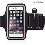MStick Sports Running Mobile Armband Pouch With Key Earphone Holder For Sports Running, Jogging, Gym, Yoga, Aerobics|Both For Male And Female | Adjustable Free Size -4.7 Inches