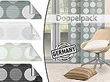 Doppelpack - Schiebevorhang Punto von Home Decoration - Scherli in 4 Farben, halbtransparent - Made in Germany - Maße ca. 245 cm x 60 cm, grau