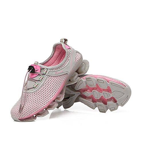 Chaussures de Sport Running d'eau Homme Femme Sneakers Basses Baskets Entraînement Bleu Marine Gris Rose