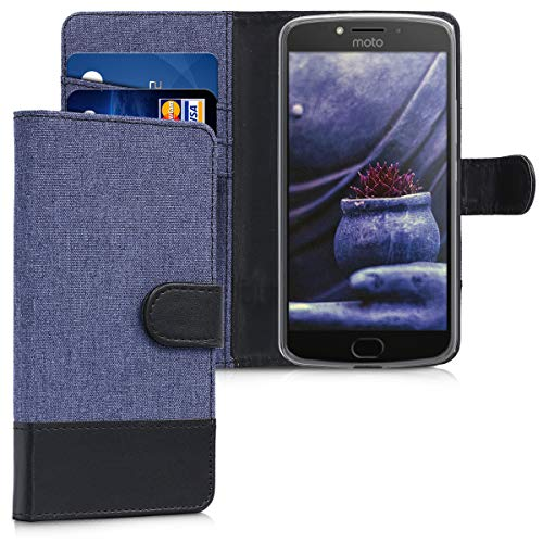 kwmobile Motorola Moto E4 Hülle - Kunstleder Wallet Case für Motorola Moto E4 mit Kartenfächern & Stand