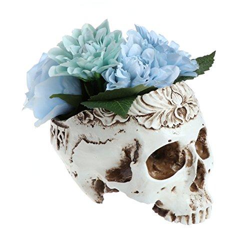 Kofun fioriera in resina gotico teschio testa contenitore home bar ornamento decorazione
