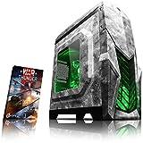 VIBOX Reptile L524-37 PC Gamer Ordinateur avec War Thunder Jeu Bundle (3,9GHz AMD Ryzen Quad-Core Processeur , Graphiques Radeon Vega Intégrés, 16GB DDR4 RAM, 1TB HDD, Sans Système d'Exploitation)