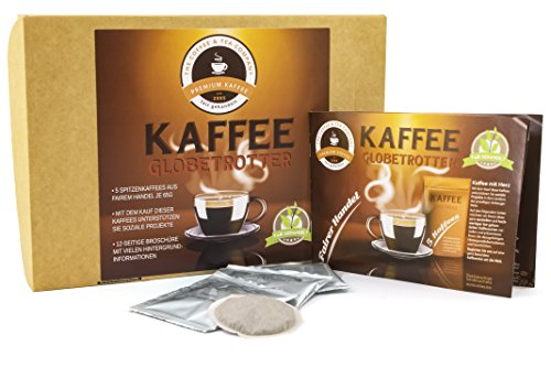 Kaffee Globetrotter - Kaffee Mit Herz Box - 5 Mal 5 Pads Fair Gehandelter Spitzenkaffee Zur...