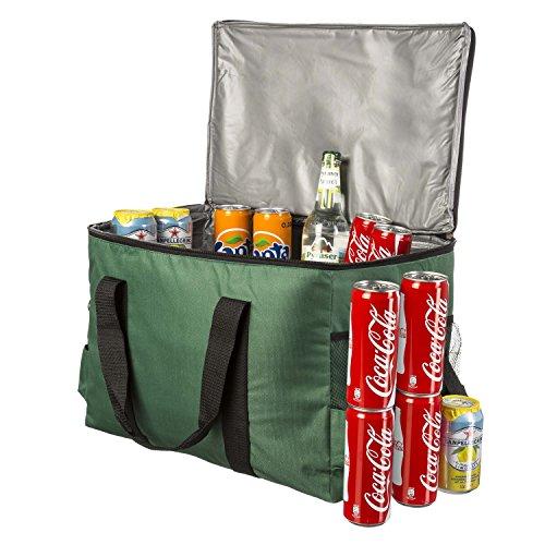 Große 45 Liter isolierte Picknick-Tasche XXL Isotasche Kühltasche für Camping Reisen Urlaub