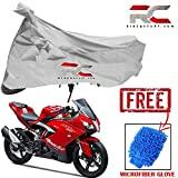 #9: Riderscart Bike Cover for tvs apachi RR310 Polyester 190T Resistant UV Protection & Micro Fiber Dusting Cleaning Glove for Home,Office White Color