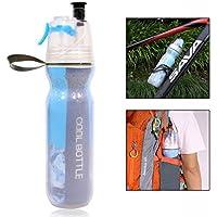 Gearmax Aislado bicicleta botella de agua Mist Spray y sin BPA botella para hacer deporte,700 ml botella de hielo frío aislado botella de agua con paja BPA libre deporte regalo