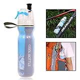 Gearmax Spray Bottiglia di Sport, Portatile, Spruzzo, Umidificante, per Bicicletta, Escursione(Blu)