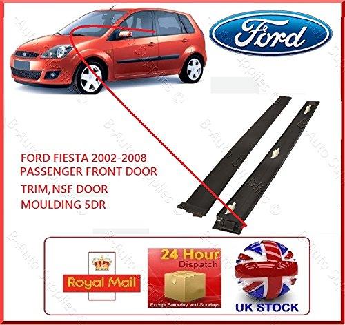 new-5dr-2001-2008-ford-fiesta-mk6passen-porta-anteriore-nsf-nero-modanatura-lh