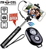 : Frocel Mobile Extendable Selfie Stick with Remote for All Android and iOS