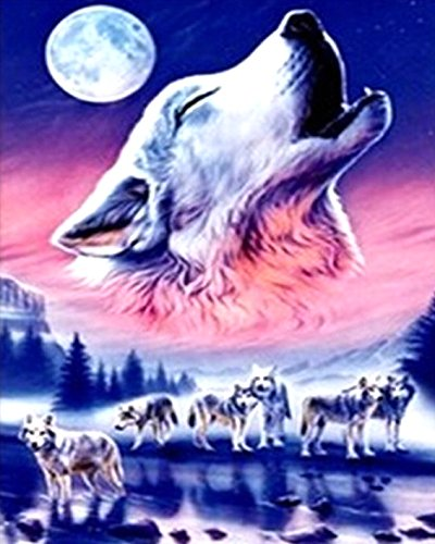 RunFar Wolf Design DIY 5D Diamant Malerei Stickerei Diamond Kreuzstich Painting Heim Room Decor