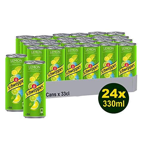 SCHWEPPES LEMON 24x 330ml (7920ml) - Soda Wasser mit Zitrone und Limette
