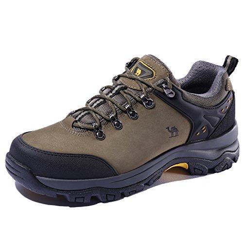CAMEL CROWN Zapatillas de Deporteal y Aire Libre para Hombres Zapatos de Senderismo Montaña Calzado de Trekking Impermeable y Ligero