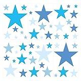 I-love-Wandtattoo WAS-10099 Kinderzimmer Wandsticker Set Blaue Sterne für Jungen Zum Kleben Wandtattoo Wandaufkleber Sticker Wanddeko