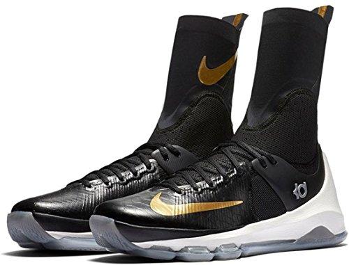 Nike Kd 8 Elite, espadrilles de basket-ball homme Noir - Negro (Black / Metallic Gold-Sail)