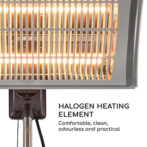 blumfeldt Heat Guard Focus • Terrassenheizstrahler • Infrarot-Heizstrahler • IR ComfortHeat • 1000 oder 2000 W • Easy Control • Halogen • höhenverstellbar • Außengebrauch • Aluminiumgehäuse • grau - 3