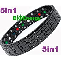 Titanium Magnetic Energy Germanium Armband Power Bracelet Health Bio 5in1 Bio 262
