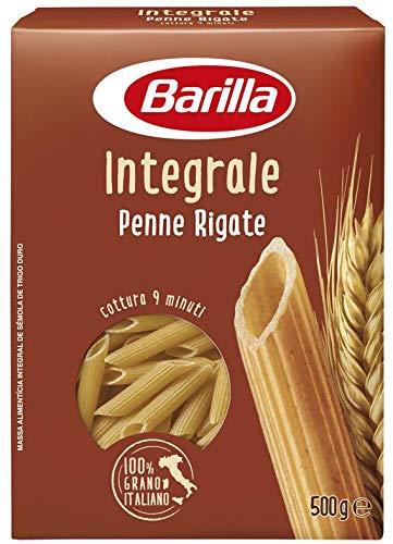 Barilla Pasta Penne Rigate Integrali, Pasta Corta di Semola Integrale di Grano Duro, Integrale, 500 g