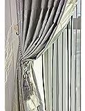 ZCJB Vorhänge Dicker Schallschutz Schattierung Tuch Schlafzimmer Wohnzimmer Balkon Vorhang Fertig Produkt Vorhang Ein Scheibe ( Farbe : B , größe : W300*H270CM )