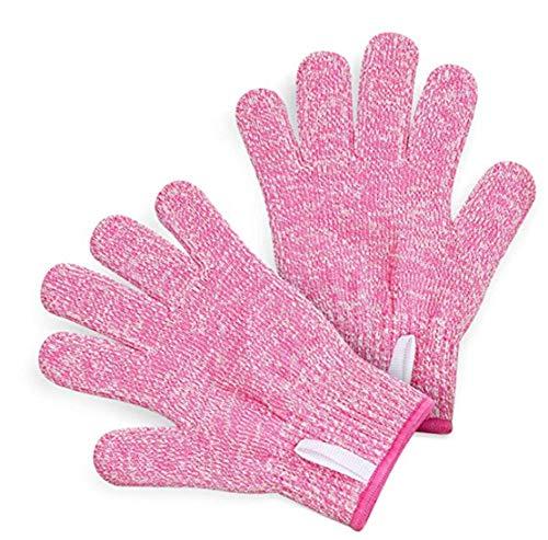 happy event Erwachsene Anti Cut Handschuhe Maximaler Schutz für Kinder beim Kochen (M, Rosa)