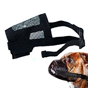 Nylon Stoff Einstellbare Netz Anti Bark Hundebissmund Fang: M