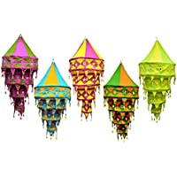 10 Pc Pcs Mix Lot cotton hanging lamp shade Indian wedding Decor Lanterns Diwali Lamps home-living decor,garden-Party Decor Bohemian