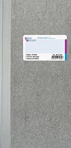 32 Spalte (König & Ebhardt 8613423 Geschäftsbuch / Spaltenbuch (13,7 x 29,7cm mit festem Kopf, 1 Spalte, 32 Zeilen, 80g/m², 144 Blatt Fadenheftung))