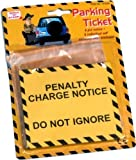 1 Pack of Fake Pretend Joke City Council Yellow Parking Ticket Fine Penalty Notice (6 in a pack)
