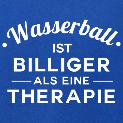 Wasserball ist billiger als eine Therapie - Herren T-Shirt - 13 Farben Royalblau